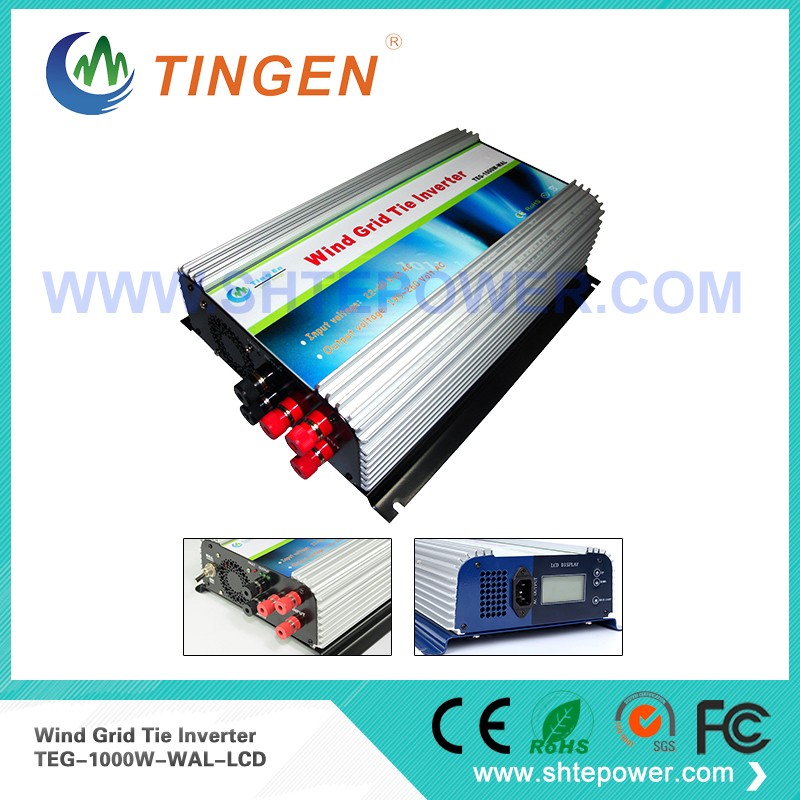 New Wind Grid Tie Inverter 1KW 1000w for Wind Turbine Generator 3phase AC 22-60v to AC 220v 230v 240v with dump load