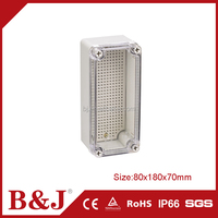 B&J High Quality RAL7032 Plastic Electric Meter Box With PC Transparent Cover