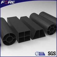 Large Diameter 40mm 50mm 100mm Round Square Rectangula Oval 3K Fibre Molding Carbon Fiber Tube / Pipe For Telescopic & Exhaust