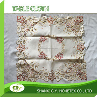 embroidery embroidered flower design table cloth tablecloth with curwork