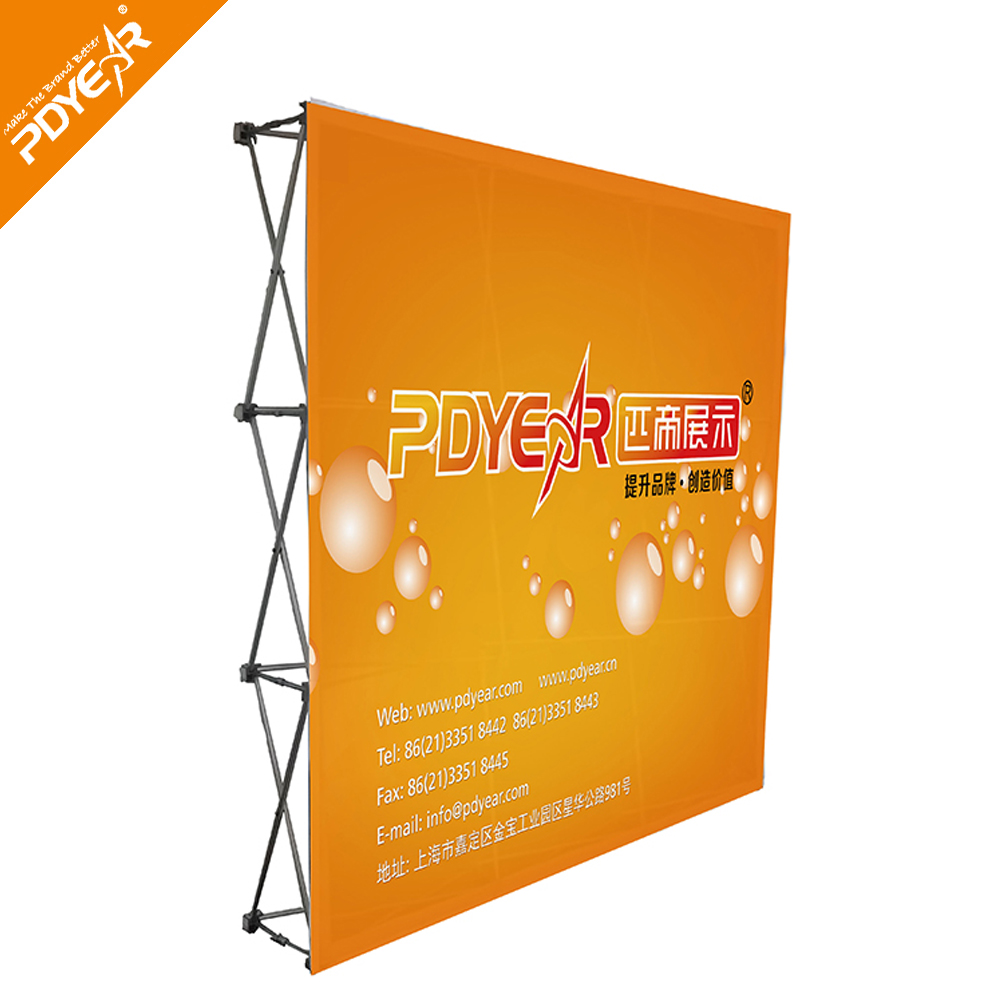Factory wholesale stretch fabric trade show pop up display wall
