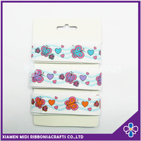 Small Pack Grosgrain Ribbon Cute butterfly Print Gift Ribbon For Children