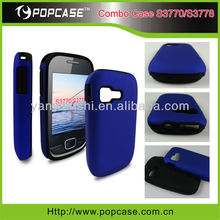 for samsung s3770 case, 2 in 1 combo case, Hybrid Case Silicone+PC Material