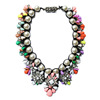 Costume Accessory White Crystal Fashion Necklace 2014