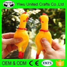 Plastic shrilling chicken many sizes screams of toy chickens