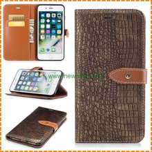 Hot Selling leather Crocodile Pattern Smartphone Case for iPhone 7 7 plus 7 color