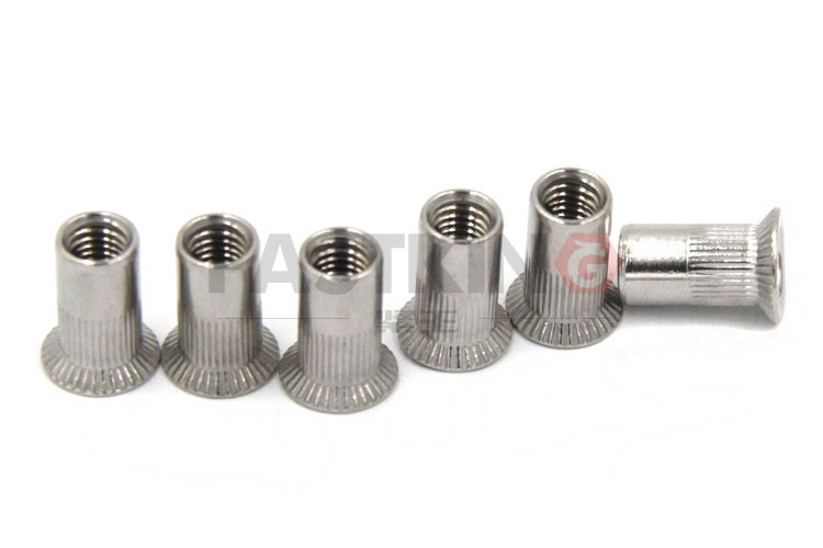 stainless steel m6 flat head hex rivet nut