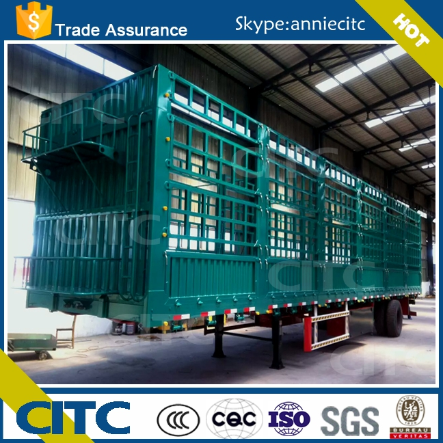 3 axle fence semi trailer and stake semi trailer/store house bar for bulk cargo transport