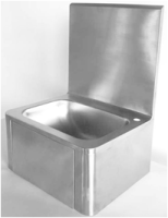 stainless steel knee operate hand free wash hand basin
