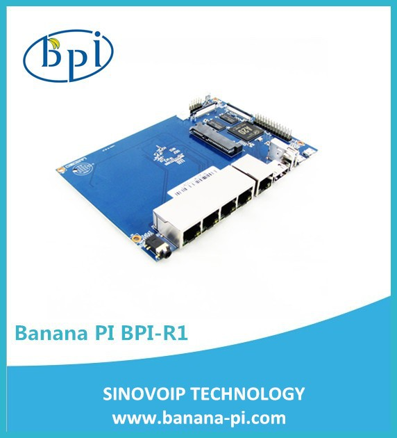 Banana PI Router 1 WAN port+4 Mbps LAN port plastic case mini openwrt adsl linux wifi router board