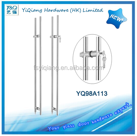Back to back cost-effective technical guidance sliding glass door handle with lock -- YQ98A113