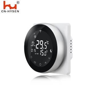 16A Programming Touch Screen Digital Under Floor Heating Round Thermostat