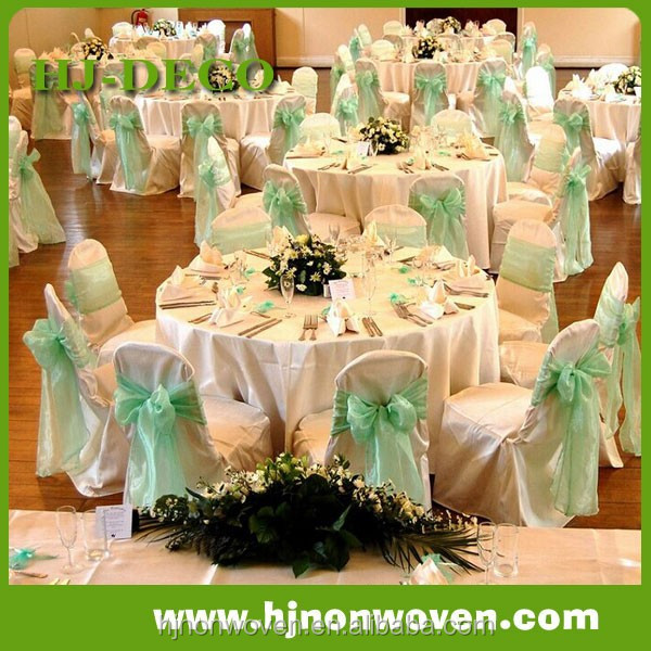 Nylon Organza Chair Bow Ties For Banquet Decor