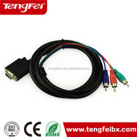 best price made in china custom Custom cable d-sub vga rca to vga rca