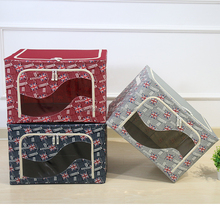 Customized Collapsible Living Room Oxford Fabric Storage Box With Lid