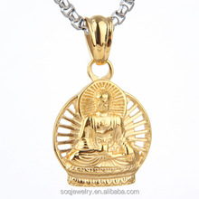 Stainless Steel necklace jewelry wholesale Titanium Steel Buddha Pendant restoring ancient ways thailand buddha pendantnt