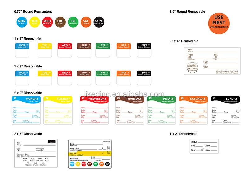 Dissolvable Food Safety Labels
