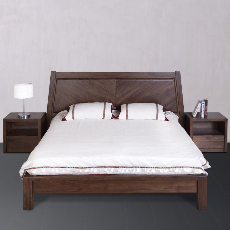 Modern and simple style solid wood bed furniture