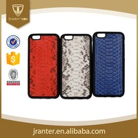 TPU+PU Case Genuine Python Snake Leather Cell Phone Case for iPhone 6