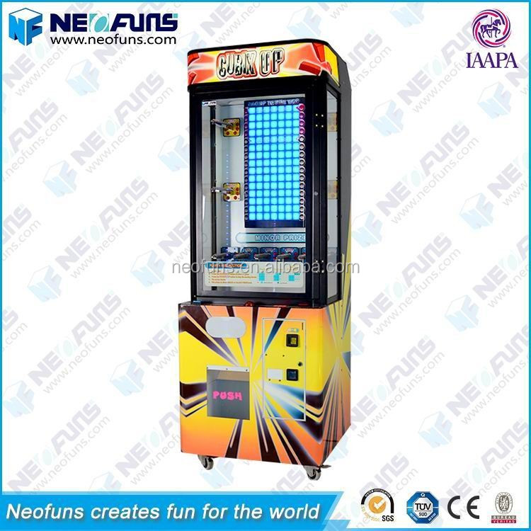 Oem Prize Vending Game Build A Brick Stacker Game Machine For Sale