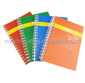 Promotional A5 paper notebook wire-o binding custom printing cheap notebook manufacture