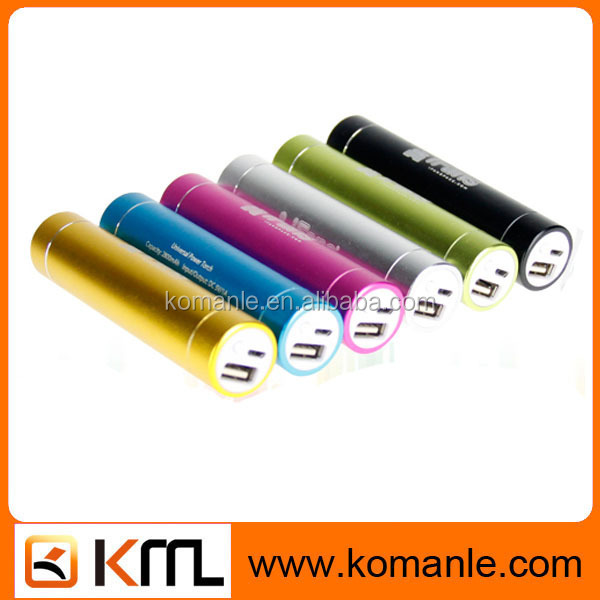 Cheap cylinder shape 2600 mah portable charger power bank for iphone 5