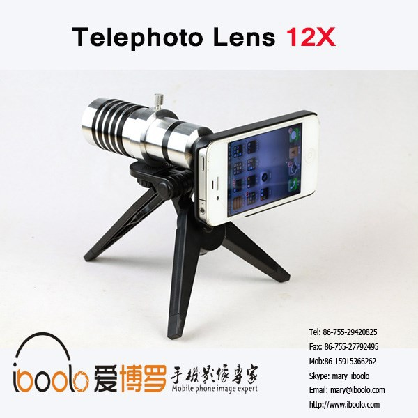 Newest Style telescope 12x lens with cover for smartphone
