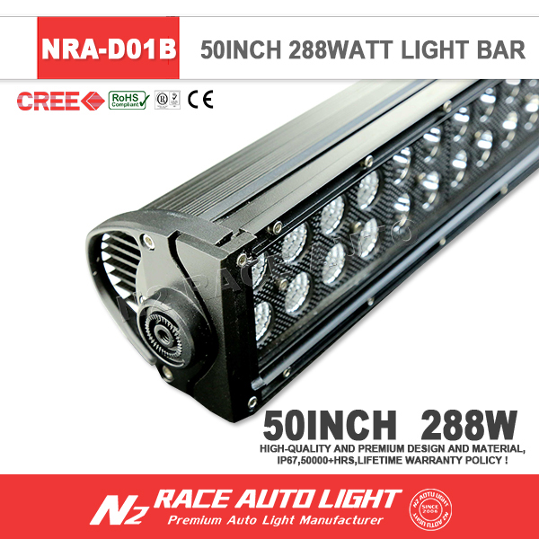 Wholesale Black Cover Design Double Row SUV Car Boat 4WD FLOOD SPOT COMBO LED Work Light Bar 300W Offroad Driving light 52''