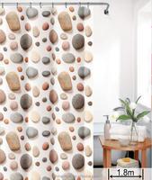 PEVA 3D Printing Stone Design Shower Curtain Full Size