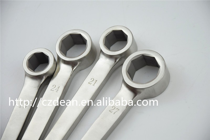 304 stainless steel square open drive valve spanner wrench ,non magnetic no rust