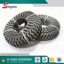 China diamond tools manufacture Rubber coating diamond wire saw for stone Diamond Cutting rope Saw For rock Quarry Wire Saw