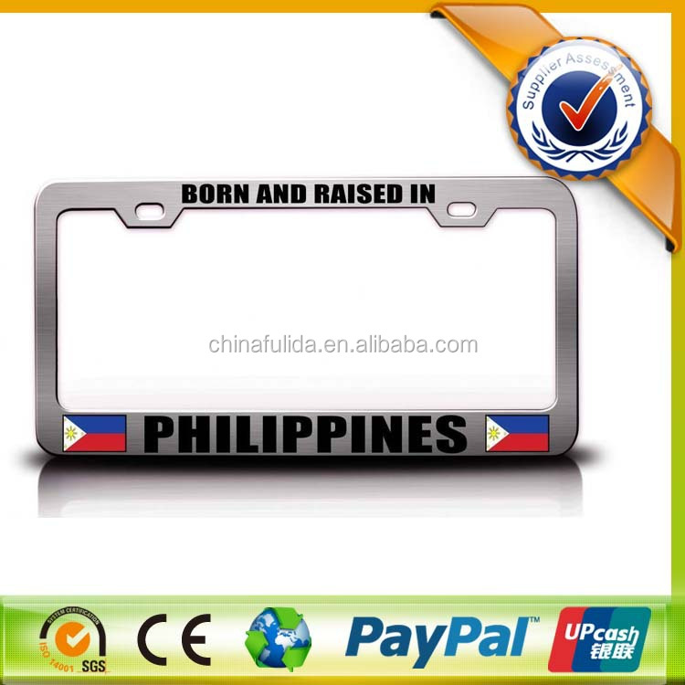 Good Selling Metal Plastic Decoration Custom Colors Car License Plate And Frame