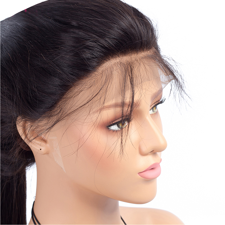 8A Straight Glueless Lace Front Wig Brazilian Full Lace Human Hair Wig With Baby Hair