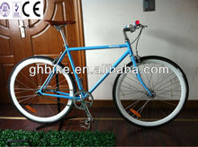 700C classics crown fork light blue CE fixie cycle bicycle single bicycle