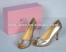 BS338 designer spring custom make ladies party shoes evening shoes with rhinestones bow
