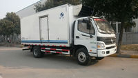 cheaper 4-6Tons JMC/JAC refrigerated standby electric unit truck/meat delivery van truck for sale