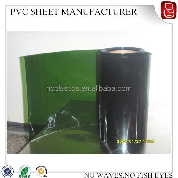 green color plastic rigid PVC clear sheets PVC transparent Roll