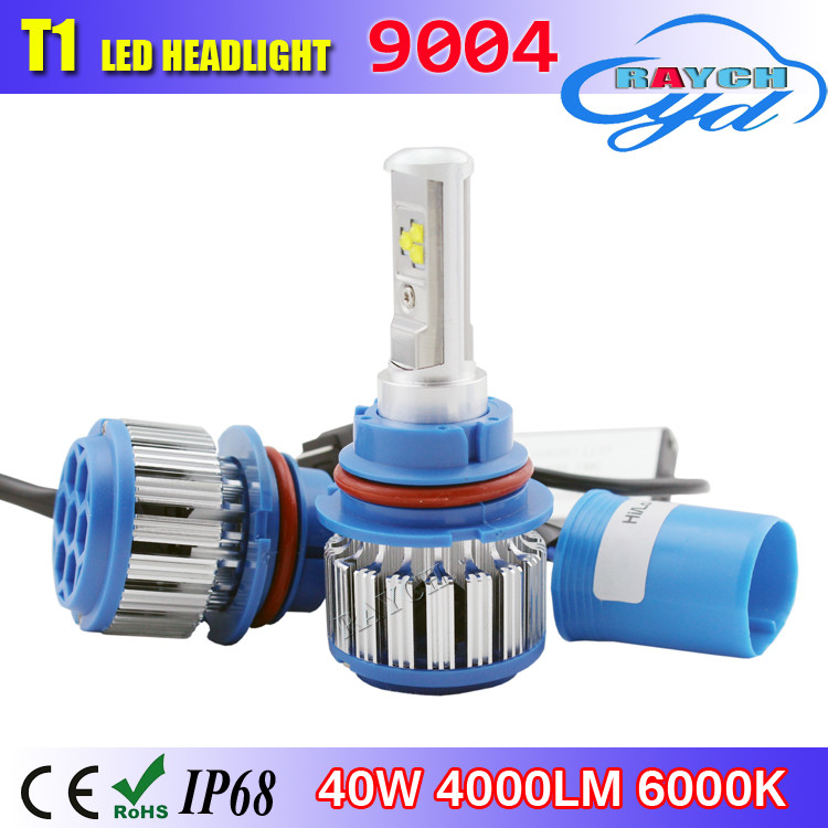 Car Styling Cars Headlight LED H4 H1 H3 H7 H11 9004 9005 9006 9007 880 881 H13 80W/Set 8000LM/Set WHITE 6000K HI/LO DRL Fog Lamp