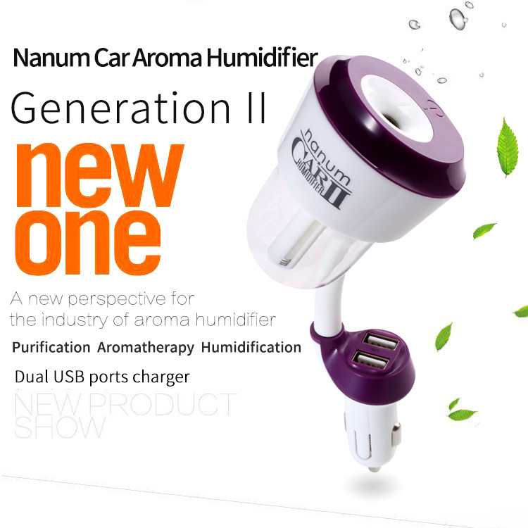Hot Sell Usb Car Charger 50Ml mini humidifier battery operated Car Mist Air Humidifier & Portable car diffuser air humidifier
