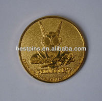 Die casting metal gold plated coin
