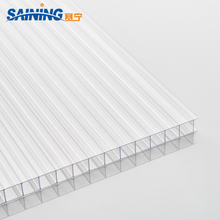 4mm-6mm hard plastic polycarbonate sheet UV Protection double Wall Plastic Used Indoor Swimming Pool