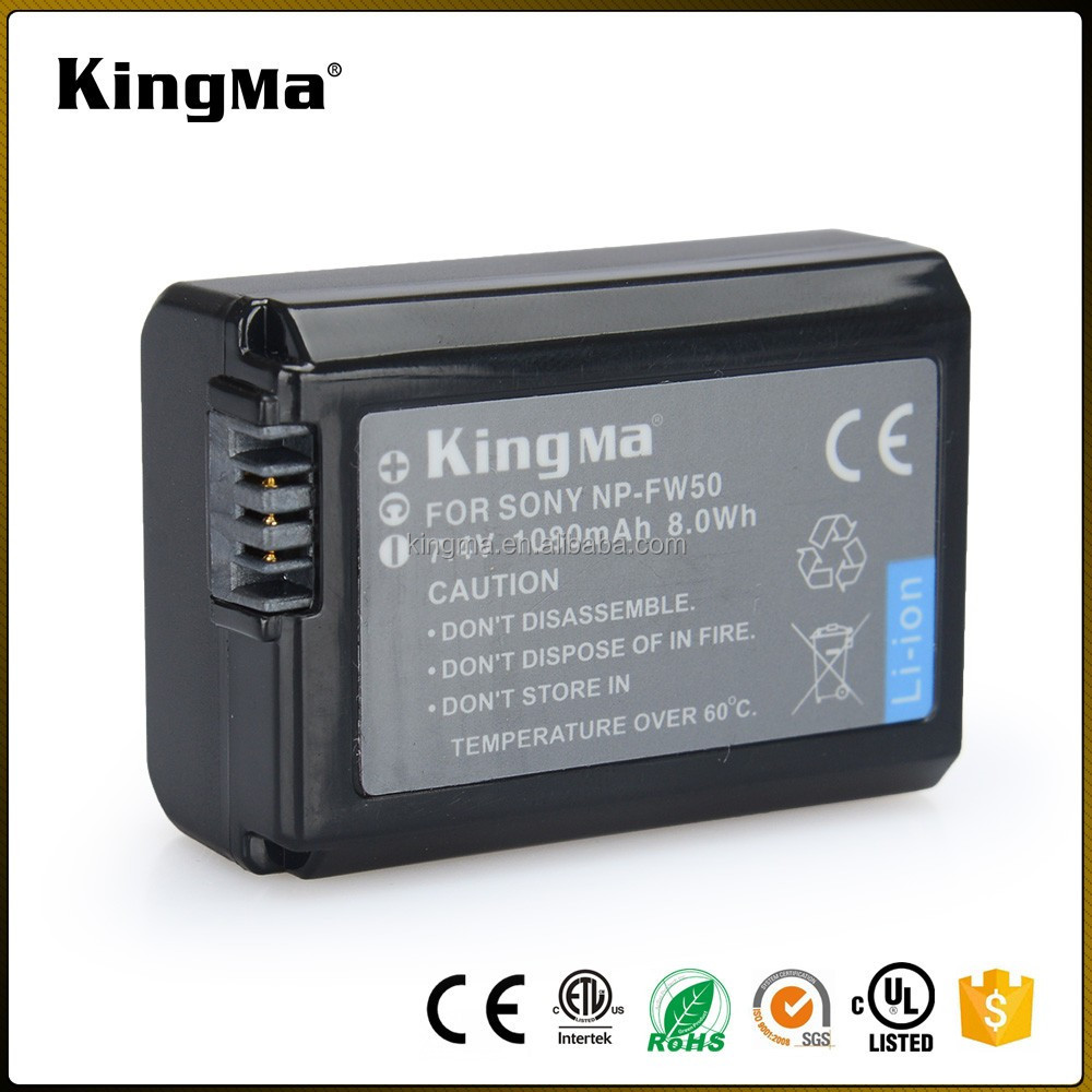 KingMa Factory Price Rechargeable Digital Camera Battery NP-FW50 for Sony a6000,A7RII,A5100 Lithium Battery Pack