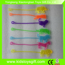 promotional plastic Sticky animal /small animal yoyo toy/novelty plastic toy