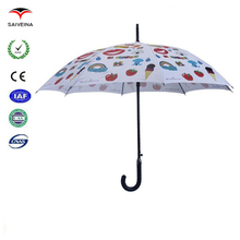 fashion cute picture pattern full printed child straight rain umbrella best selling