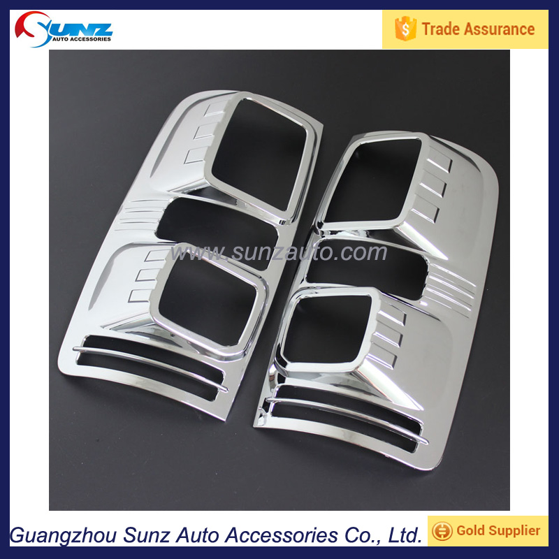 For chevrolet colorado 2012 auto abs chromed protective tail lamp cover