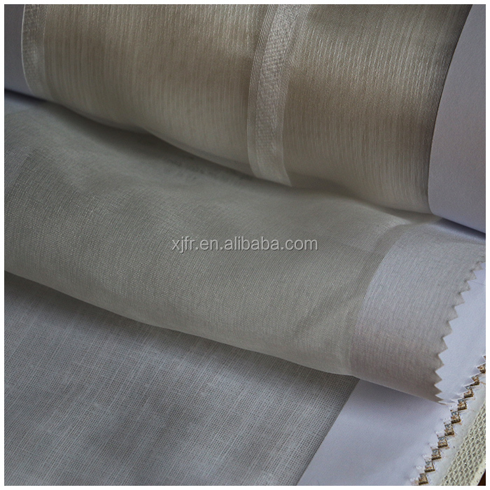 100% polyester fire resistant embroidered sheer voilv curtain fabric