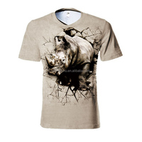 custom printing animal printed 3d t-shirt