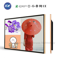 55 inch multi-screen indoor wall mounted lift/elevator led advertising screens