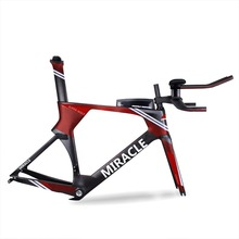 Custom logo carbon time trial bicycle frame carbon track frame bb30