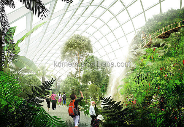 ETFE membrane Botanical Garden Roof with heat preservation